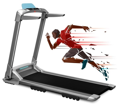 XQIAO OVICX Q2S Smart Folding Walking Running Machine Ultra-Thin Treadmill for Workout, Fitness Training Gym Equipment, Exercise Indoor & Outdoor With Smart Deceleration, APP Control, LED Display - EU Version