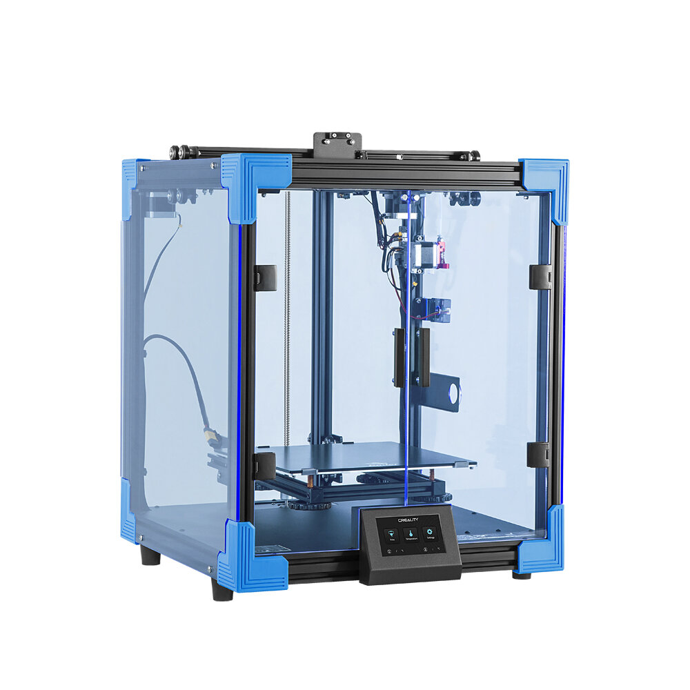Creality 3D® Ender-6 Upgraded Cubic Structure 3D Printer 250*250*400mm Large Printer Size Branded Power Supply/Ultra-Silent Mainrboard/Carborundum Glass Printing Platform/4.3inch HD Color Touch Screen/Filament Run-out Sensor Support Resume Print
