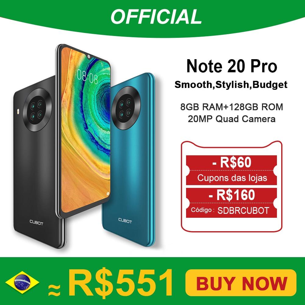 "Cubot Note 20 Pro Quad Camera Smartphone NFC 6GB/8GB+128GB 6.5"" 4200mAh Android 10 Dual SIM Telephone 4G LTE celular Note20 Pro|Cellphones| - AliExpress"