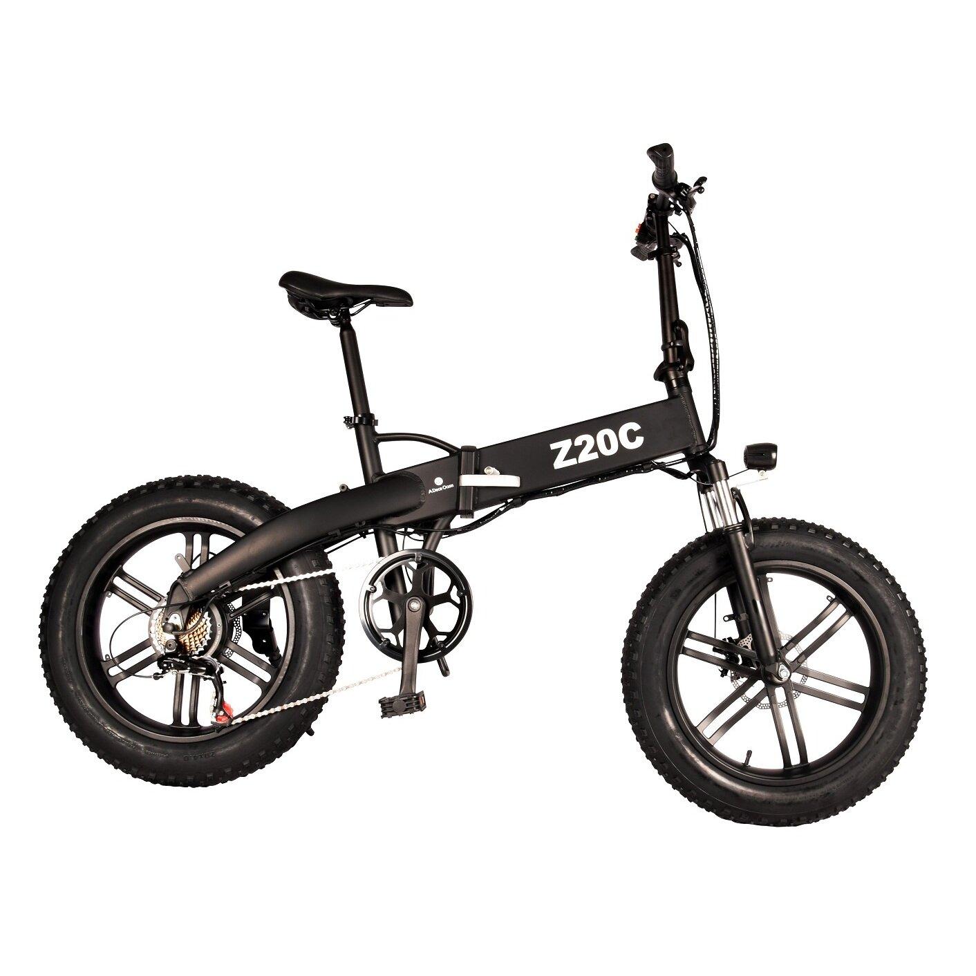 [EU DIRECT] ADO Z20C 10AH 36V 250W Folding Electric Bike 20inch Snow Fat Tire 25km/h Top Speed 80km Mileage Range 6-speed Transmission Smart Display Dual Disc Brake