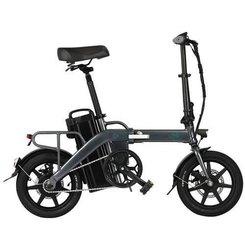 FIIDO L3 Folding Electric Moped Bike City Bike Commuter Bike 48V 350W 23.2Ah Lithium Battery 14 inch Max 25km/h 130Km Max Mileage Long Distance - Grey