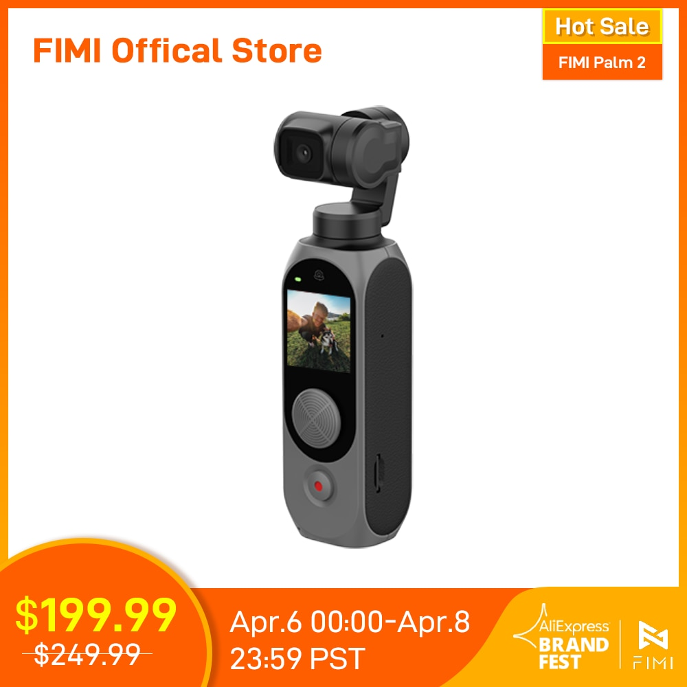 FIMI PALM 2 Gimbal Camera palm2 FPV 4K 100Mbps WiFi Stabilizer 308 min Noise Reduction MIC Face Detection Smart Track In stock|Aerial Gimbal| - AliExpress