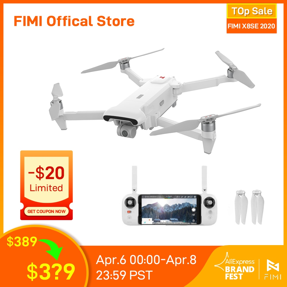 FIMI X8SE 2020 Camera Drone Quadcopter RC Helicopter 8KM FPV 3 axis Gimbal 4K Camera GPS RC Drone Quadcopter RTF Christmas gift Camera Drones  - AliExpress