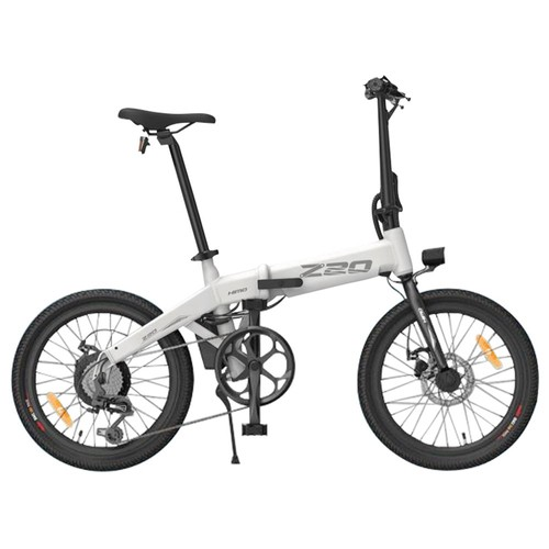 HIMO Z20 Folding Electric Bicycle 20 Inch Tire 250W DC Motor Up To 80km Range 10Ah Removable Battery Shimano 6-speed Transmission Smart Display Dual Disc Brake Europe Version - White