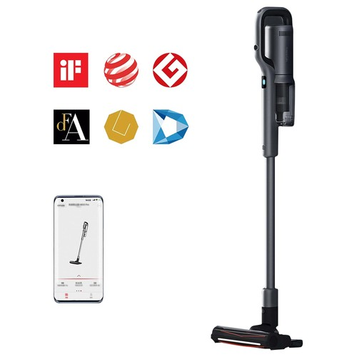 ROIDMI NEX 2 Pro Portable Smart Handheld Cordless Vacuum Cleaner 26500Pa Strong Suction 435W Motor 2500mAh Battery APP Control OLED Display From Xiaomi Youpin - Grey