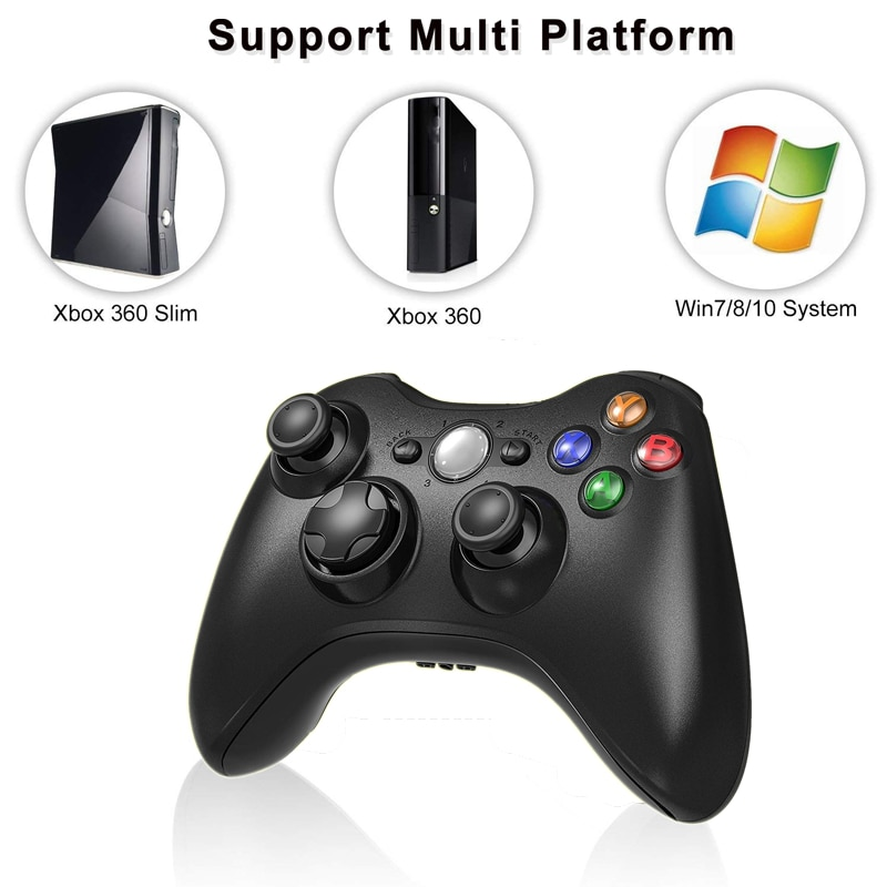2.4G Wireless Gamepad For Xbox 360 Console Controller Receiver Controle For Microsoft Xbox 360 Game Joystick For PC win7/8/10|gamepad controller for pc|2.4g wireless game controllerxbox 360 pc controller - AliExpress