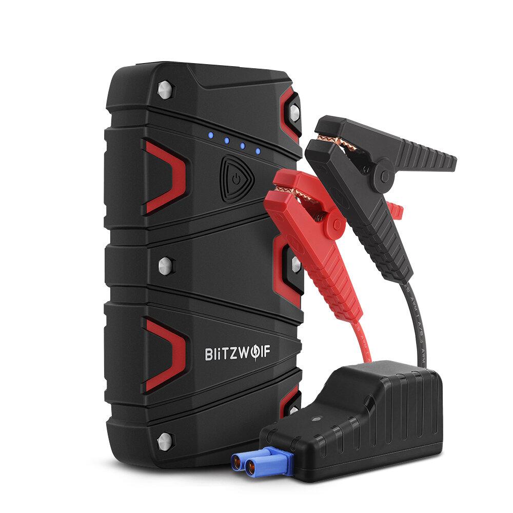 BlitzWolf® BW-JS1 800A 12000mAh Portable Car Jump Starter Emergency Battery Booster Power Bank Waterproof with LED Flashlight QC3.0 USB Charging Port