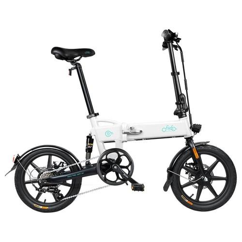 FIIDO D2S Folding Moped Electric Bike Gear Shifting Version City Bike Commuter Bike 16-inch Tires 250W Motor Max 25km/h SHIMANO 6 Speeds Shift 7.8Ah Battery - White