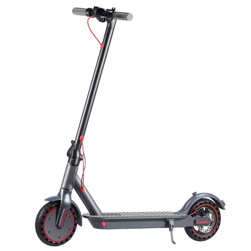 """M1 Folding Electric Scooter 8.5"""" 350W Motor 36V 10.4Ah Battery BMS 3 Speed Modes Disc Brake Max Speed 25KM/h LCD Display 25-30KM Long Range Support Bluetooth APP - Black"""
