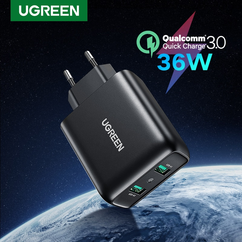 UGREEN Quick Charge 3.0 QC 36W USB Charger Fast Charger for iPhone QC3.0 Wall Charger for Samsung s10 Xiaomi mi 9 Phone Charger|Mobile Phone Chargers| - AliExpress