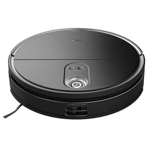 360 S10 Robot Vacuum Cleaner 3300Pa Superior Suction Vacuuming Sweeping Mopping 3 in 1 LiDARs Navigation 3D Obstacle Avoidance UItra-slim Design 5000mAh Battery 520ml Water Tank 500ml Dustbin Alexa Google Assistant Clova APP Remote Control - Black