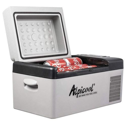 Alpicool C20 Portable Mini Refrigerator Compressor Refrigeration Electric Cooler Fast Freezing 20L Capacity LCD Control Panel for Vehicle, Car, Truck, RV, Boat - Black