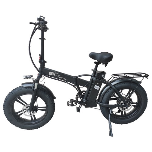 CMACEWHEEL GW20 Folding Electric Moped Bike 20 x 4.0 Fat Tires Alloy integrated Wheels Five Speeds 750W Motor 15Ah Large Battery Up To 100km Range Max Speed 45km/h Smart Display - Black