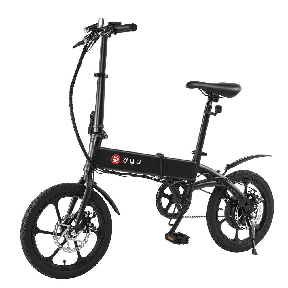 [EU Direct] DYU A1F 5Ah 250W 36V Folding Moped Electric Bike 16in 25km/h Top Speed 15-20km Mileage Range Intelligent Double Brake System Max Load 120kg