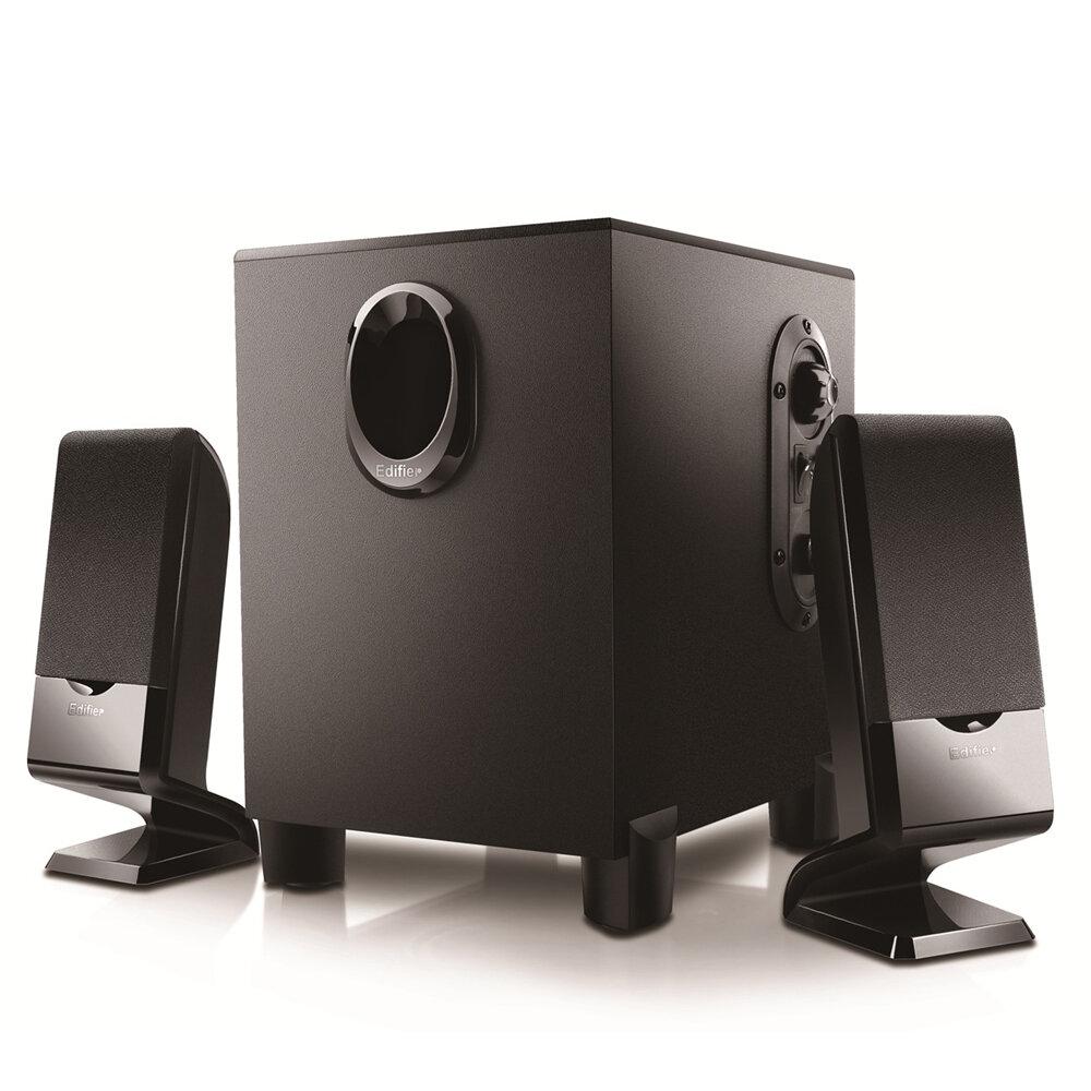 Original Edifier R101V 2.1 Channel Multimedia Speaker MDF 4-inch Subwoofer HiFi Stereo Bass 3.5mm Audio Computer Speakers with EU Plug