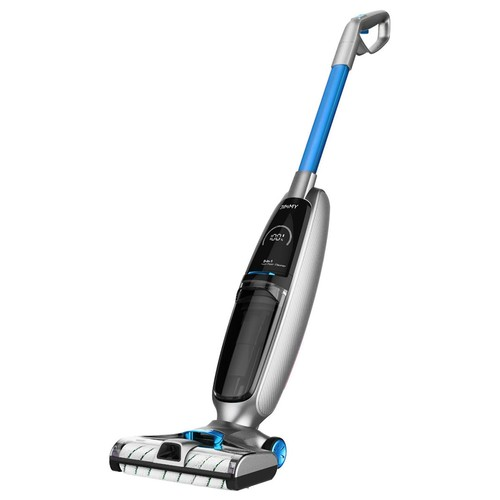 JIMMY PowerWash HW8 Cordless Dry Wet Smart Vacuum Washer Cleaner 7000Pa Suction 2500mAh Replaceable Battery 25Mins Run Time Instantly Dry Detachable Clean/Dirty Water Tank One-Touch Self-Cleaning LED Display - Blue