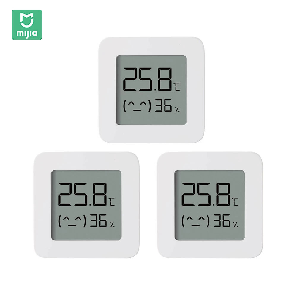 3PCS XIAOMI Mijia BT Bluetooth Thermometer 2 Wireless Smart Electric Digital Hygrometer Thermometer Work with Mijia APP