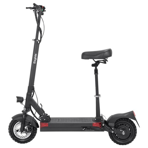 """Eleglide D1 Off-road Folding Electric Scooter 10"""" Pneumatic Tires 500W Motor 48V 18AH Battery 45km/h Max Speed up to 70km Max Range Front & Rear Disc Brake - Black"""