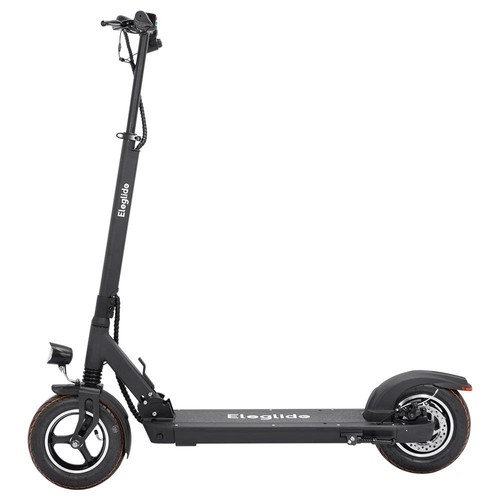 """Eleglide S1 Folding Electric Scooter 10"""" Pneumatic Tires 400W Motor 3 Speed Modes 36V 8AH Battery 24km/h Max Speed up to 30km Max Range Rear Disc Brake - Black"""