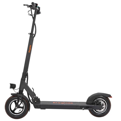 """Eleglide S1 Plus Folding Electric Scooter 10"""" Pneumatic Tires 400W Motor 3 Speed Modes 36V 12.5AH Battery 24km/h Max Speed up to 45km Max Range Rear Disc Brake - Black"""