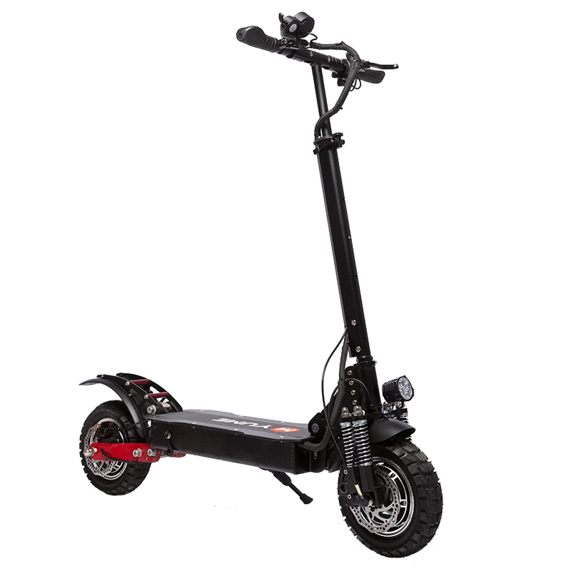 [EU DIRECT] YUME YM-D5 Hydraulic Brake 52V 2400W Dual Motor 23.4Ah Folding Electric Scooter 65-70km/h Top Speed 80km Range Mileage 10inch Off-road Pneumatic Tire Max Load 200kg Scooter