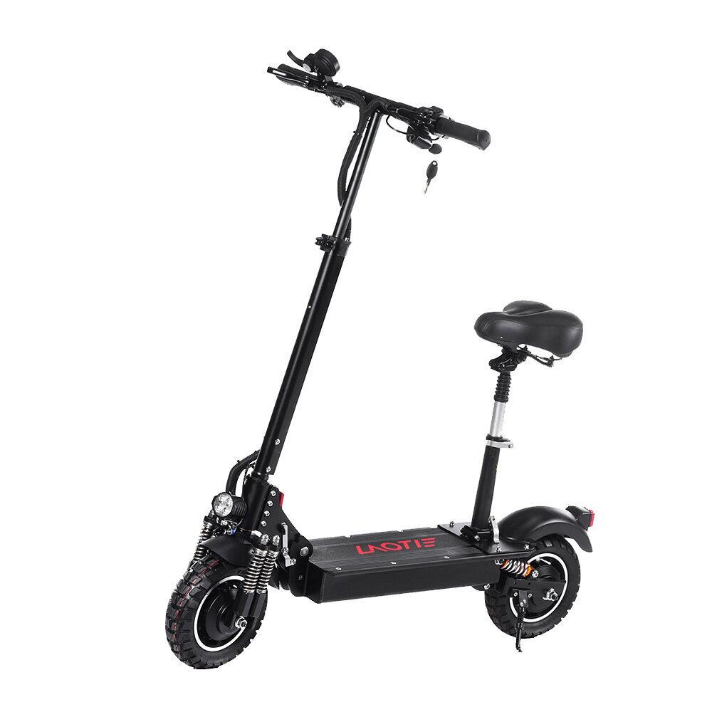 LAOTIE® ES10 2000W Dual Motor 23.4Ah 52V 10 Inches Folding Electric Scooter with Seat 70km/h Top Speed 80km Mileage Max Load 120kg