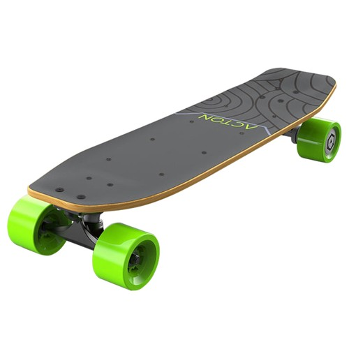 Xiaomi ACTON R1 Electric Skateboard Bluetooth Smart Remote Control LED Light Up to 12KM Range Canadian Maple Wood - Grey Green