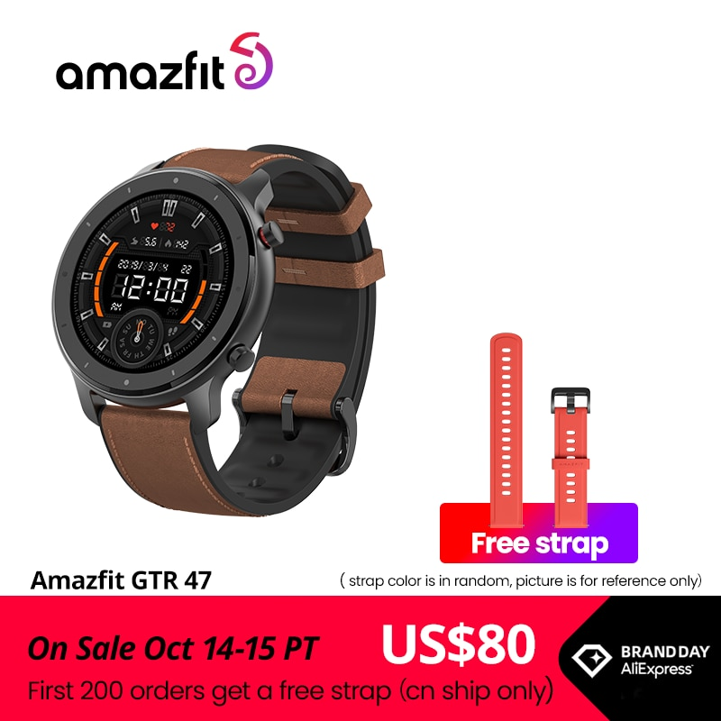 Global Version Amazfit GTR 47mm Smart Watch 5ATM New Smartwatch Long Battery Music Control For Android IOS Phone Smart Watches  - AliExpress