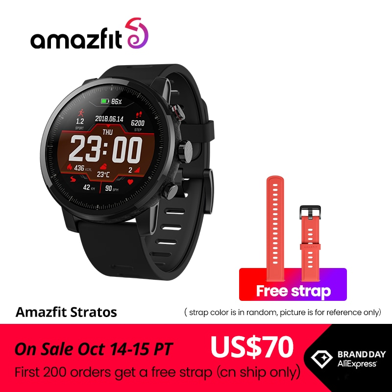 Original Amazfit Stratos Smartwatch Smart Watch GPS Calorie Count 50M Waterproof for Android iOS Phone|Smart Watches| - AliExpress
