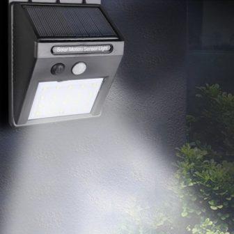 20 LED kültéri vezeték nélküli napfény
