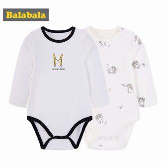 Balabala 2 PCS/lot bodysuit infant spring baby boy girl clothing unisex baby...