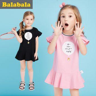 Balabala 2018 Flower Dresses for girls Kids cotton Baby Girls clothing petal...