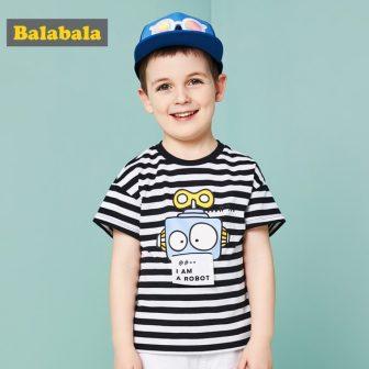 Balabala 2018 summer Children's tshirt boy Clothing Children tshirt enfant casual T-shirt...