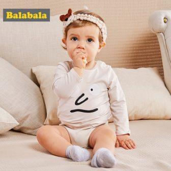 Balabala Baby 2-Pack Graphic Bodysuits Infant Newborn Baby Girls Boys 100% Cotton...