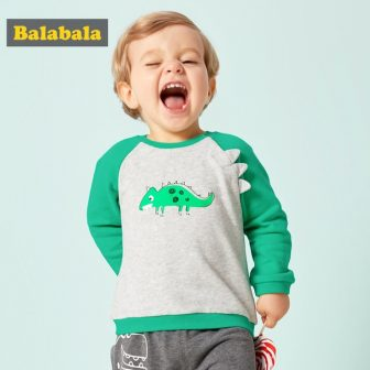 Balabala Baby Boy 3D Cartoon Dinosaur T-shirts Infant Newborn Baby Raglan Long...