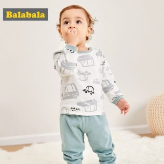 Balabala Baby Girl Boy Two-Piece Cartoon Printed T-shirts Tops + Pull On...