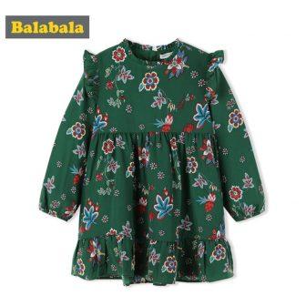 Balabala beautiful floral dress autumn clothing for toddler girl kid clothes Long...