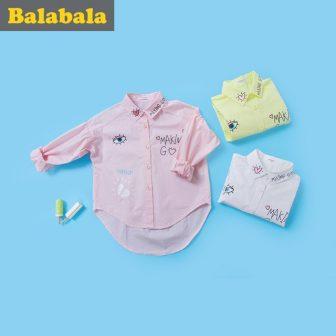 balabala Children Girls Long-sleeved Shirt Cotton Spring Autumn New girls blouses Breathable...