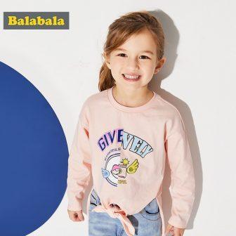 Balabala Children T-Shirts For Baby Girls o neck cotton Tops Tees Toddler...