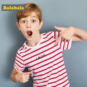 Balabala children's t-shirts for boys kids o-neck short sleeve tops Clothing kids...