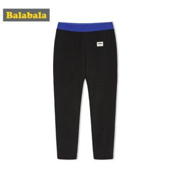 Balabala Girls Contrasted Sports Pants Pull On Pants Teenager Girls Slim Fit...