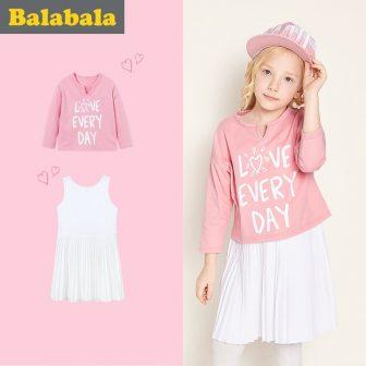 balabala Girls Dress Children 2018 Autumn Doll Collar Princess Dresses For Girls...