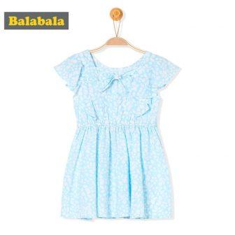 Balabala Girls Dress with Short Butterfly Sleeve Toddler Girl Open Back Dress...