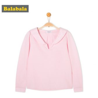 balabala Girls tshirt Children Spring Autumn Cotton Long-sleeved t Shirt Comfortable Sweet...