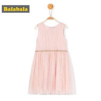Balabala Grils Sleeveless Lace Dress with Tulle Wedding Party Princess Dresses Tutu...