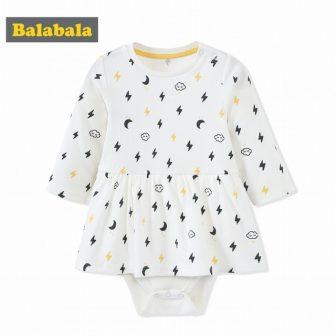 balabala Newborn Baby One-piece Suit Baby Girls jumpsuit Autumn Infant Girl bodysuit...