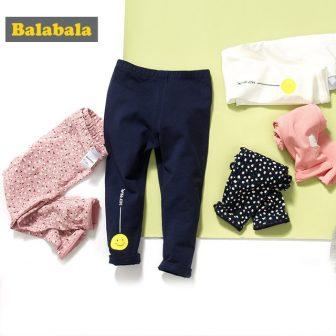 Balabala Spring Summer Girls Leggings Baby Children Leggings Flower Print Toddler Classic...