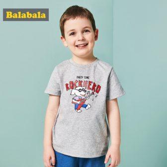 Balabala summer T-shirt for boys cartoon short sleeve tops Children Clothing kids...