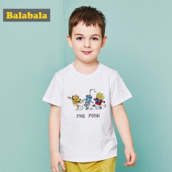 Balabala summer t-shirt for toddler boy food print shirt for boys enfant...