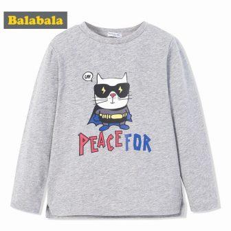Balabala toddler Boys t-shirt cute cartoon spring children cotton clothing Long Sleeve...